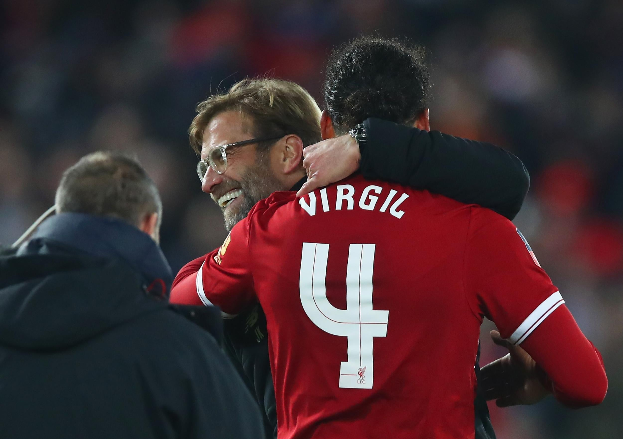 Jurgen Klopp Delighted With Virgil Van Dijk S Brilliant Header As Liverpool Knock Everton Out Of Fa Cup The Independent The Independent