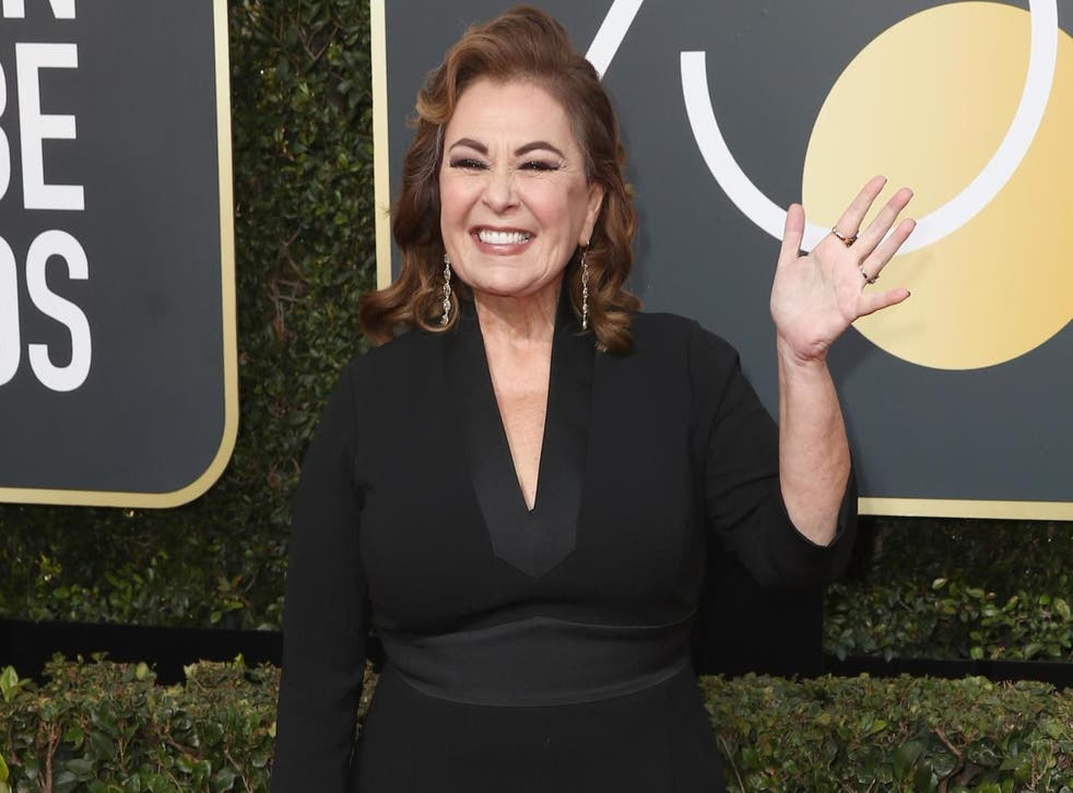 JANUARY 07: Roseanne Barr attends The 75th Annual Golden Globe Awards at The Beverly Hilton Hotel on January 7, 2018 in Beverly Hills, California. Credit: Frederick M. Brown/Getty Images.
