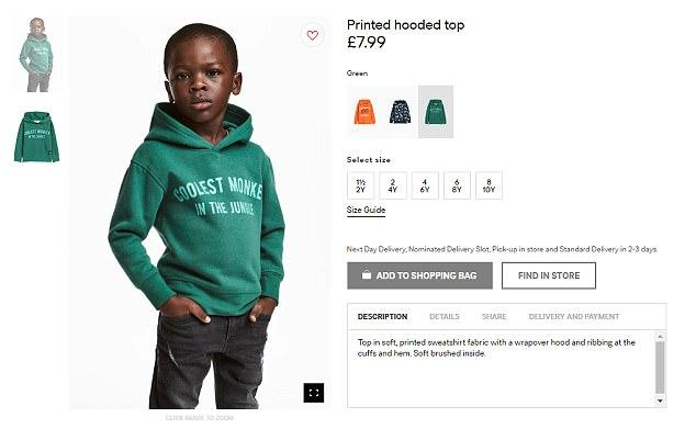 H&M apologises following backlash over 'racist' image of child model on website