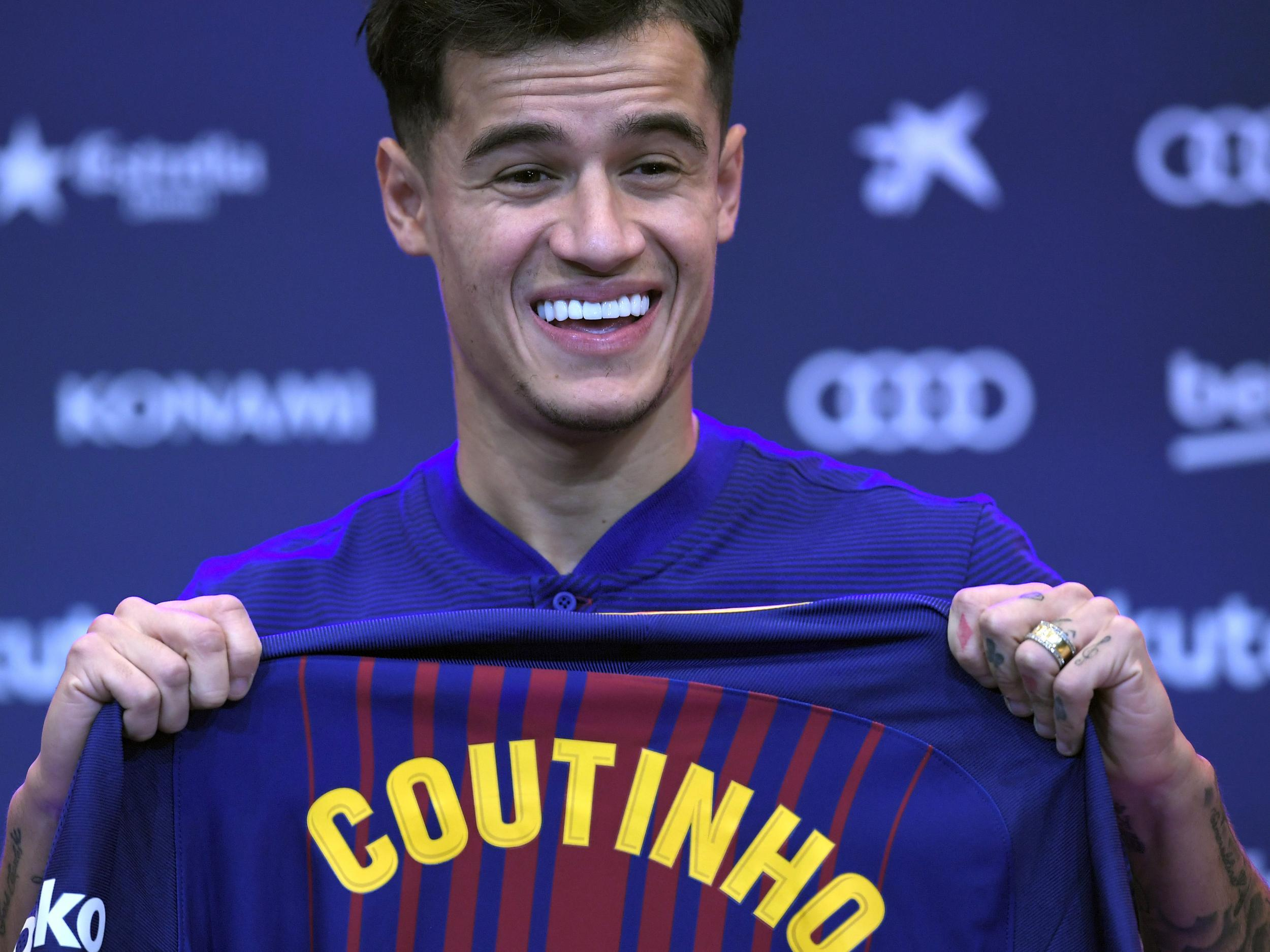 reputable site e434a 59128 Philippe Coutinho to wear number 14 shirt at Barcelona ...