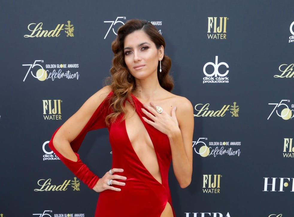 Blanca Blanco at the Golden Globes