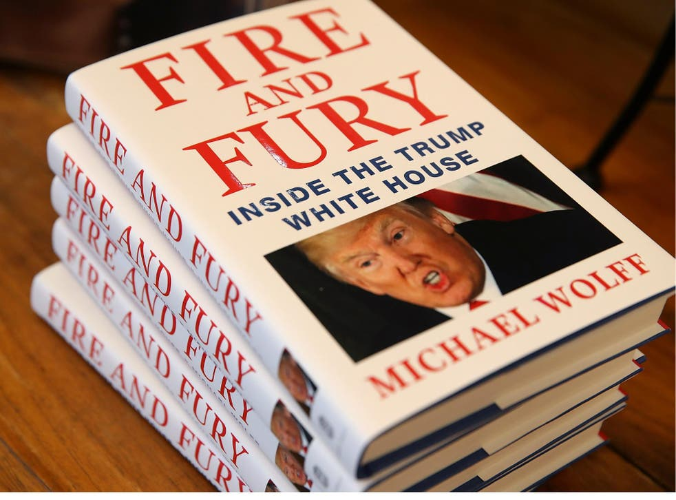 Copies of the book 'Fire and Fury' by author Michael Wolff are displayed on a shelf at Book Passage on 5 January 2018 in Corte Madera, California.