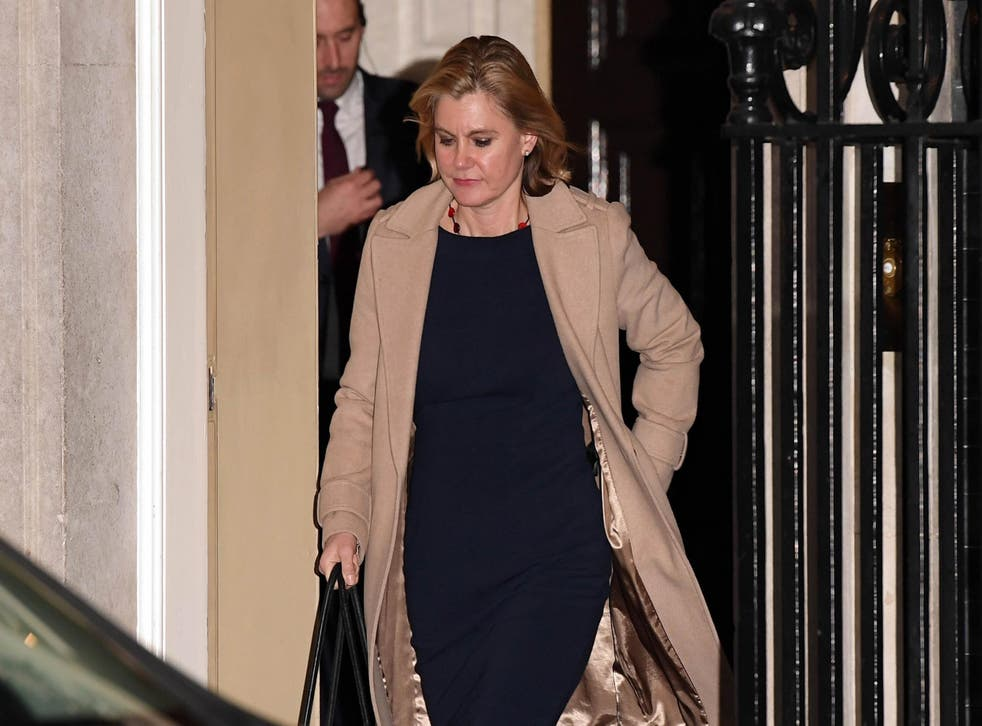 The former Cabinet member was dismissed from her role earlier this month