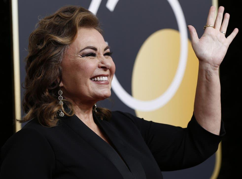 Roseanne Barr attending the Golden Globe awards on Sunday night
