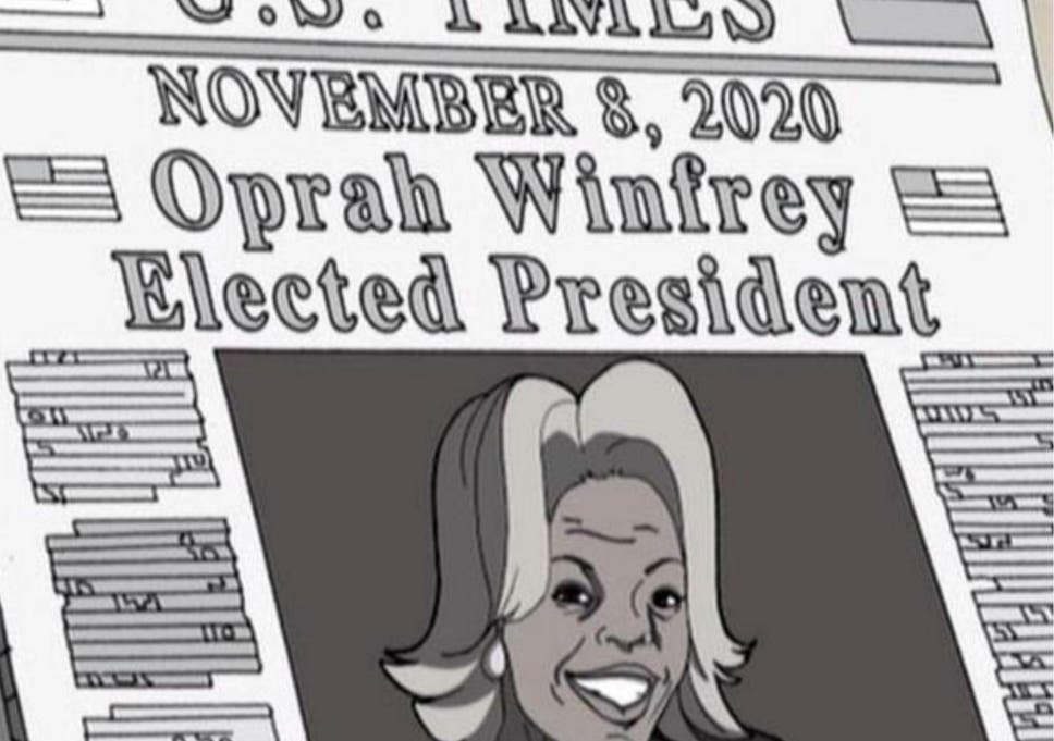 Oprah Winning In 2020 Was Predicted By The Boondocks Cartoon 12