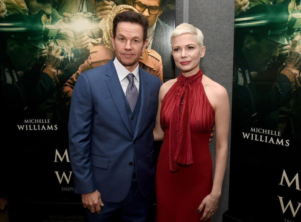 Mark Walhberg and Michelle Williams at the premiere of 'All The Money In The World'