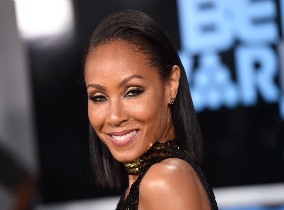 Jada Pinkett-Smith poses upon her arrival at the BET Awards ceremony, on June 25, 2017, in Los Angeles, California. Credit: CHRIS DELMAS/AFP/Getty Images.
