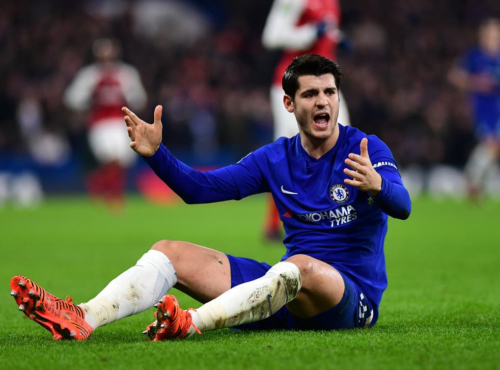 Morata is struggling at Chelsea at the moment
