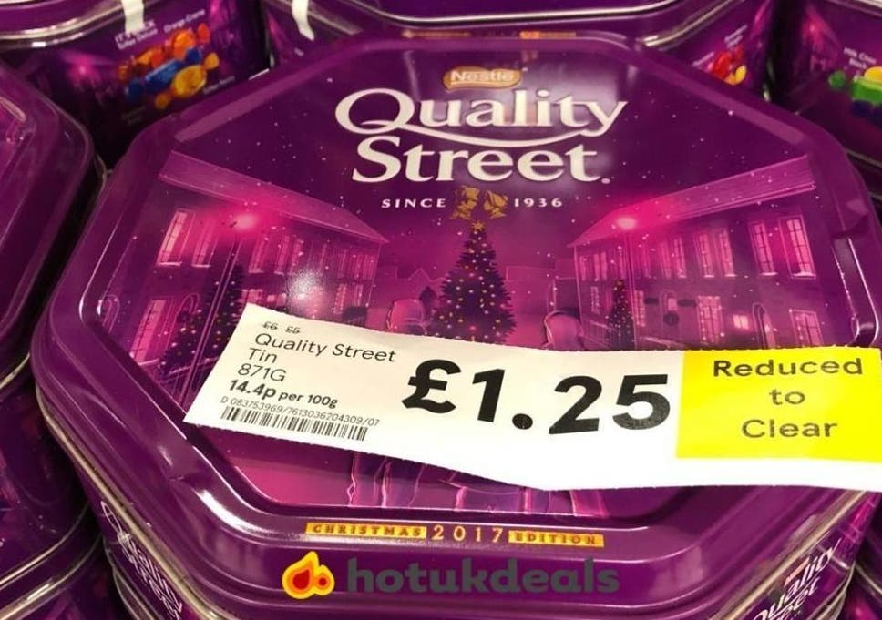 quality street  Quality Street sale: Shoppers rush to buy for £1.25 after massive ...