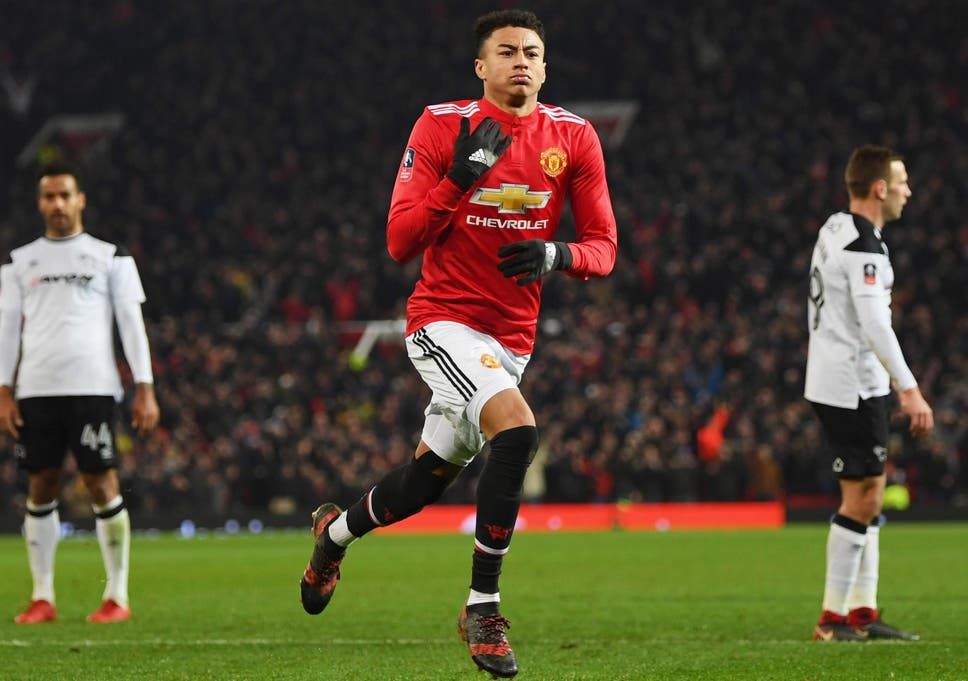 Jesse Lingard scored as Manchester United beat Derby in the third round 9a8763fa2749f