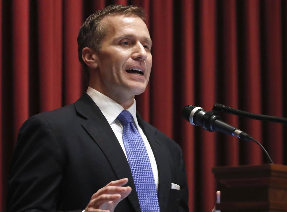 Missouri governor Eric Greitens delivers the annual State of the State address to a joint session of the House and Senate in Jefferson City