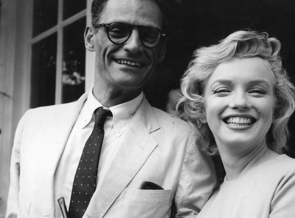 Arthur Miller with Marilyn Monroe outside her home in Surrey's Englefield Green