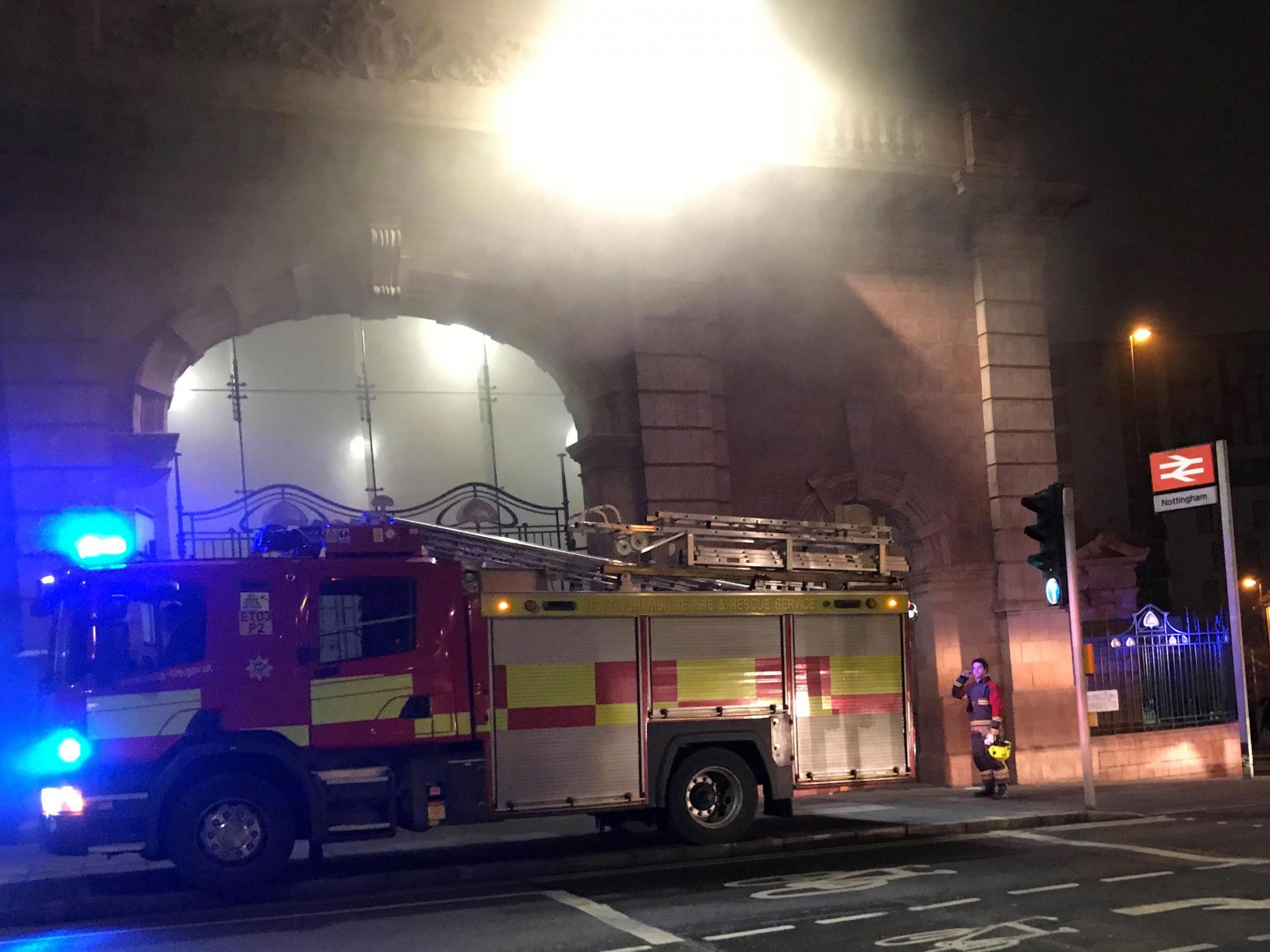 Nottingham station fire treated as arson after major blaze causes read more fandeluxe Image collections