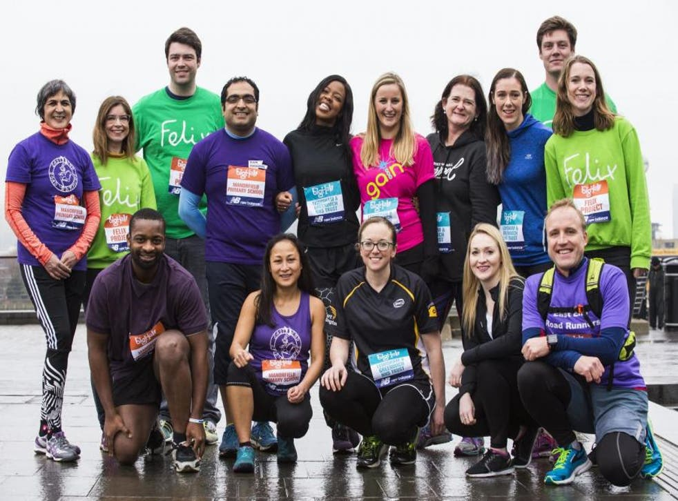 Runners from Team Felix get training for the Big Half. 10 lucky readers will join them