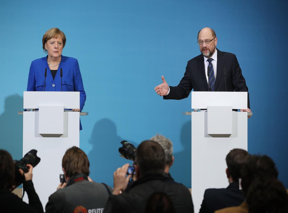 Chancellor Merkel and SPD leader Martin Schulz signalled that preliminary talks were a success, and that they will likely soon begin negotiations
