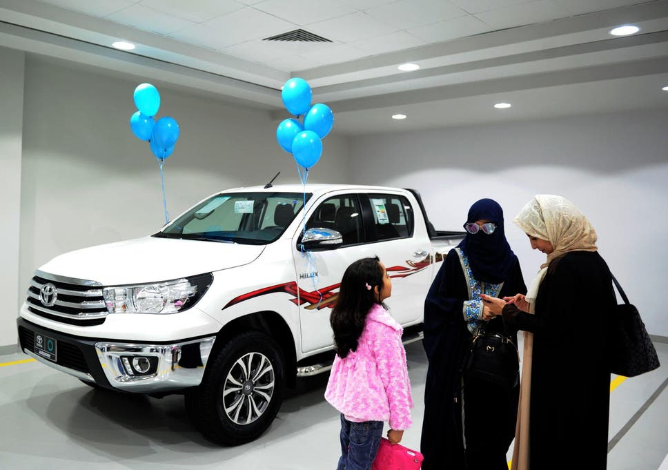 Saudi Arabia Unveils First Womenonly Car Exhibition After Driving - Car exhibition
