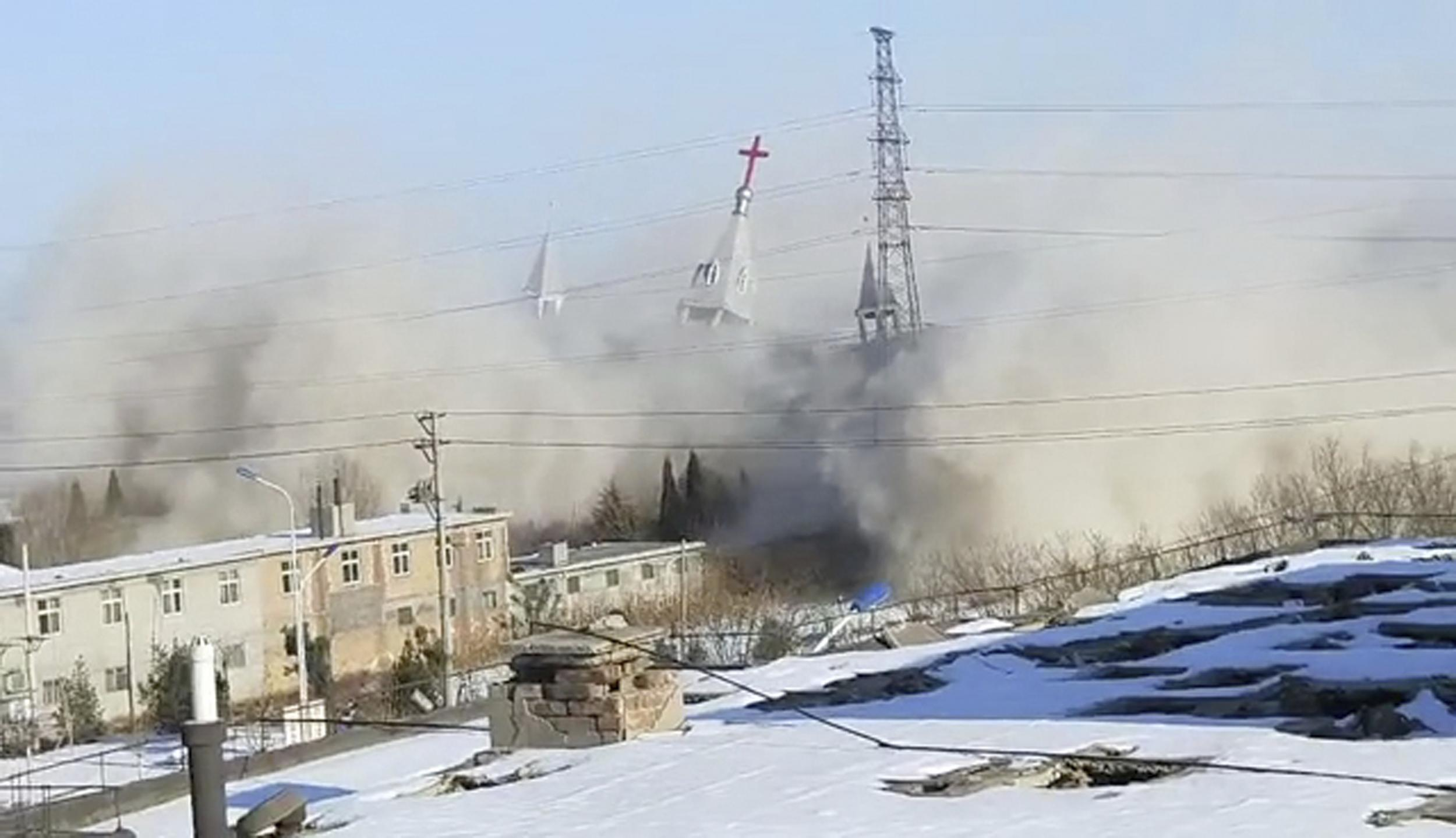 Chinese authorities blow up Christian megachurch with dynamite
