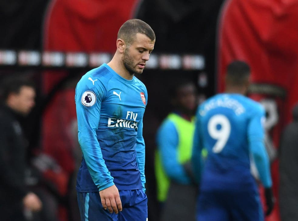 A dejected Jack Wilshere could do nothing to prevent Arsenal losing 2-1 at his former club Bournemouth