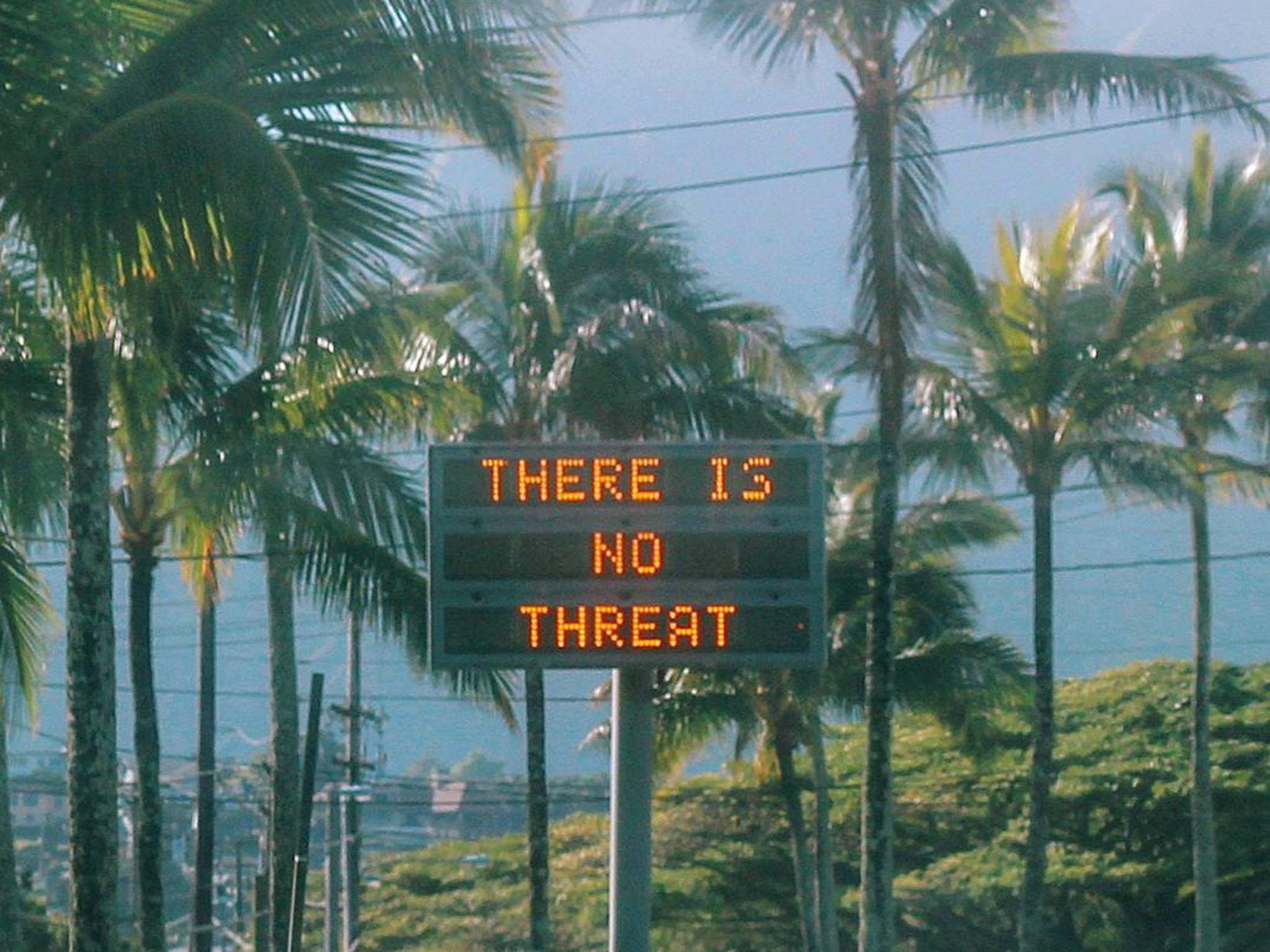 Person responsible for sending out ballistic missile alert in Hawaii is 'reassigned'
