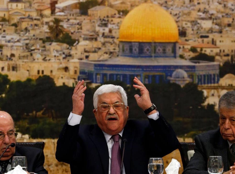 Mahmoud Abbas attacked Donald Trump during an address to the Palestinian Central Council on Sunday
