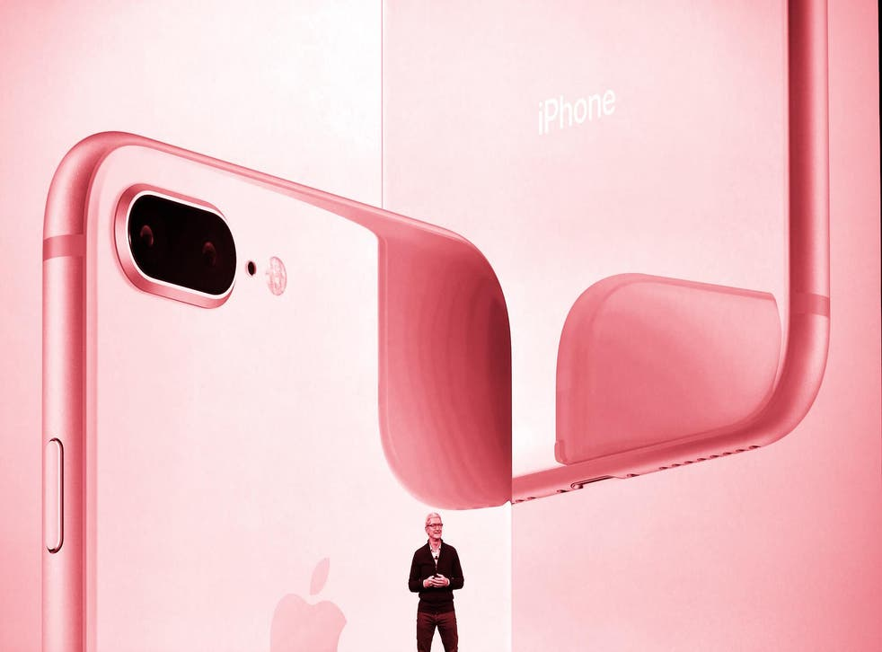 Apple CEO Tim Cook speaks about the new iPhone lineup during a media event at Apple's new headquarters in Cupertino, California on September 12, 2017