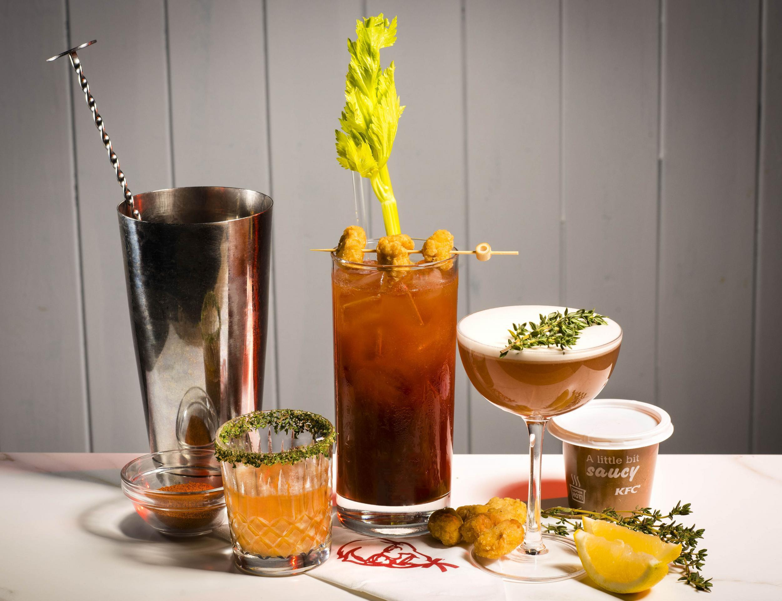 KFC launch classic cocktail recipes infused with its iconic gravy