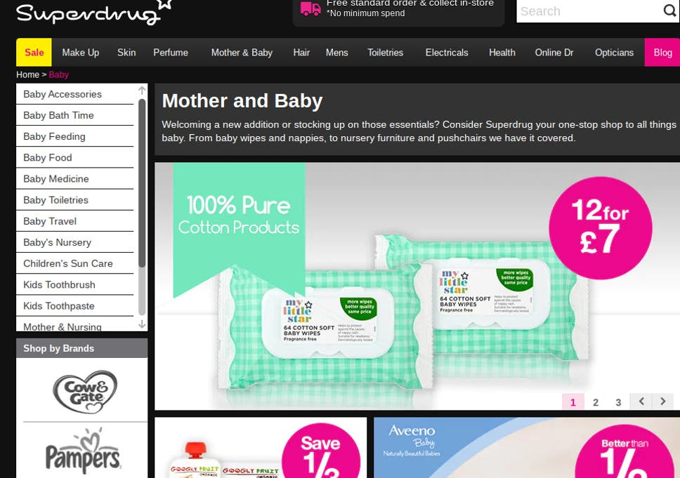 Mother and baby aisle' in supermarkets is sexist, claims