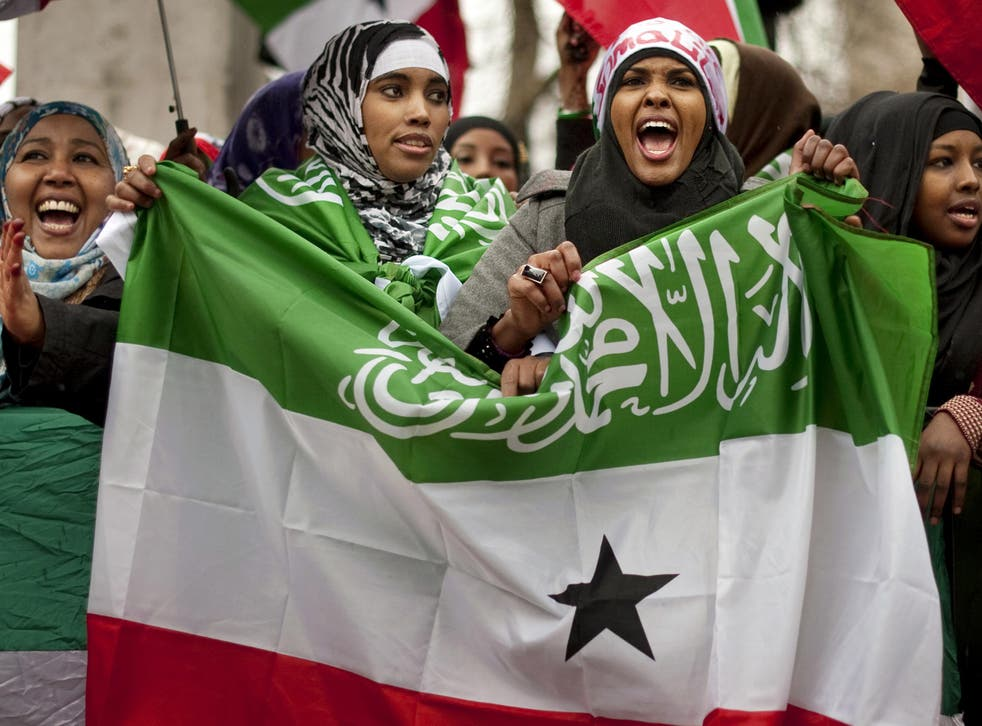 British-based Somaliland women protesting in London in 2012. The new law is in response to the rising number of violent sexual attacks against female Somalilanders