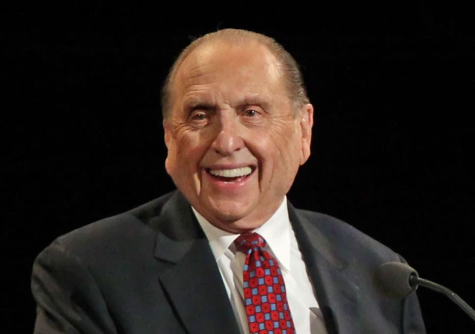 Thomas S Monson President Of The Mormon Church And Prophet Who