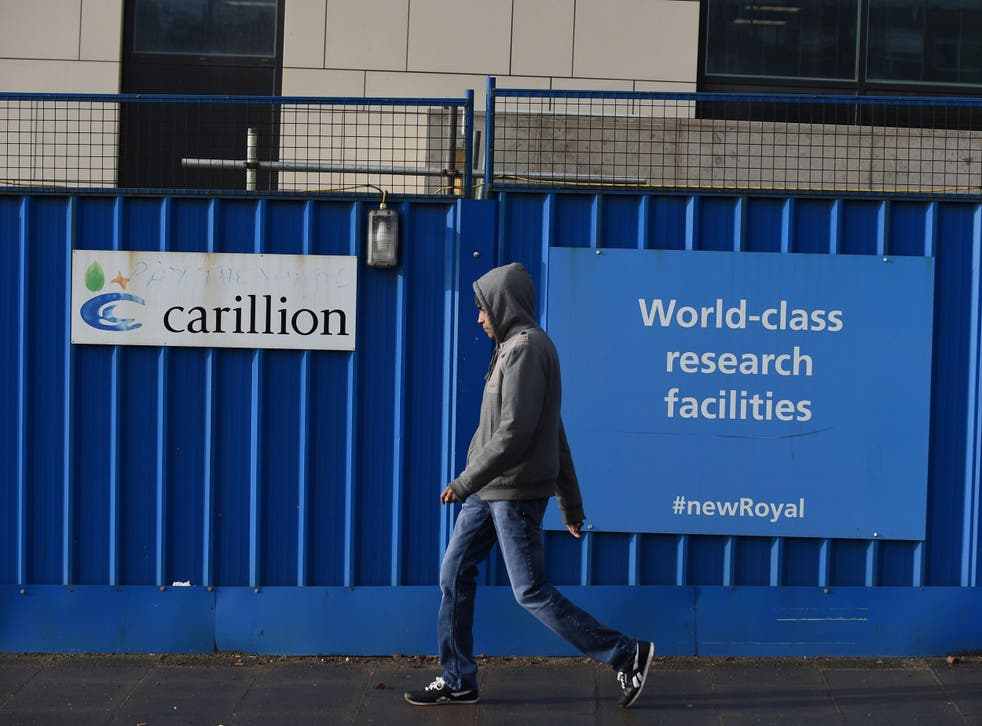 Carillion announced its liquidation on Monday after failing to secure financial rescue from the Government