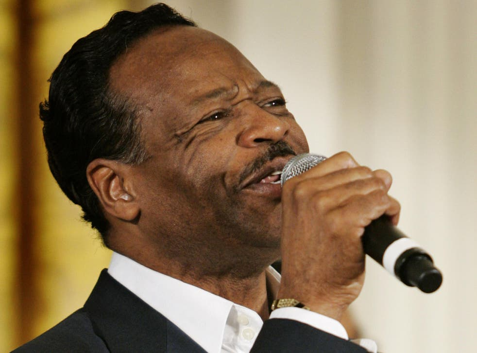 Edwin Hawkins performs in the East Room of the White House in June 2008