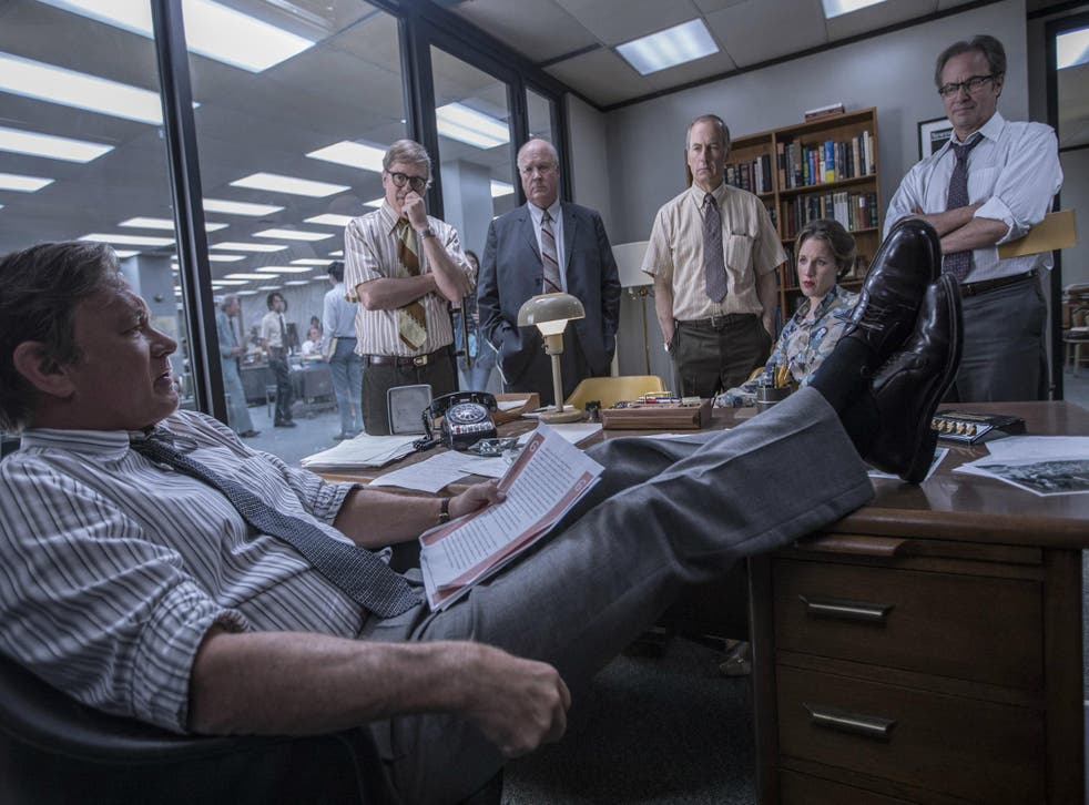 Hanks gives an enjoyable performance that rekindles memories of both Walter Matthau and Jason Robards as the Post's editor, Ben Bradlee