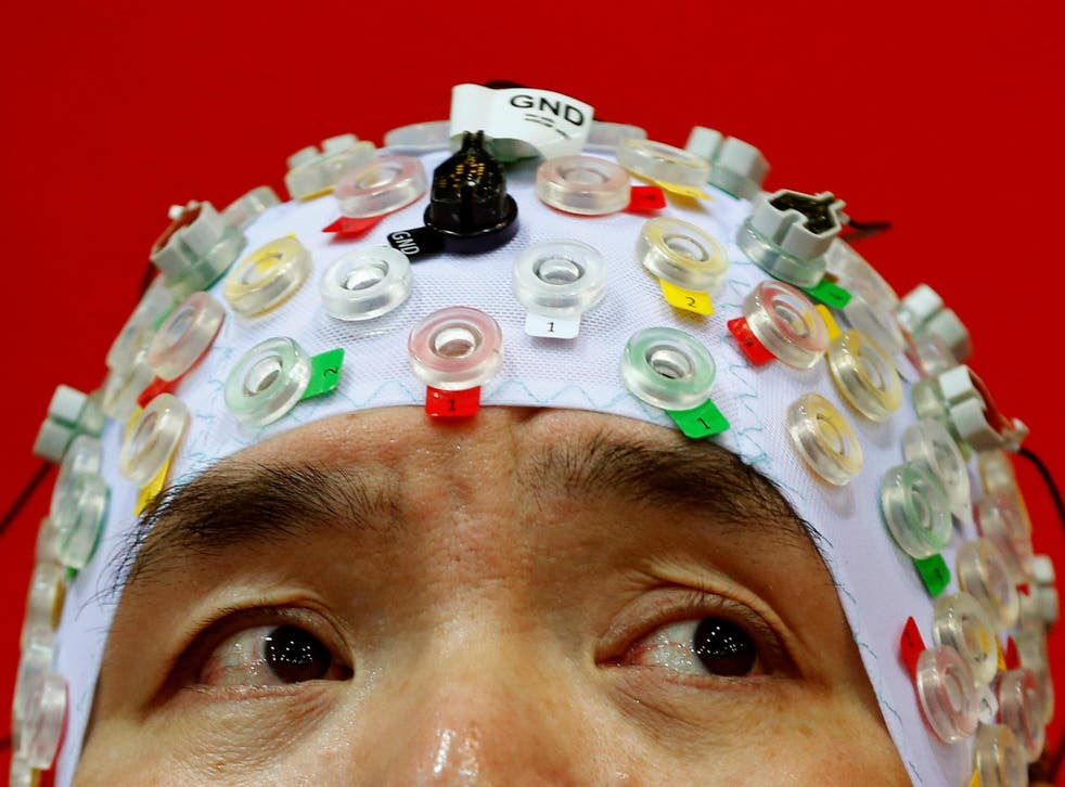 Hong Gi Kim of South Korea competes during the Brain-Computer Interface Race (BCI) at the Cybathlon Championships in Kloten, Switzerland October 8, 2016