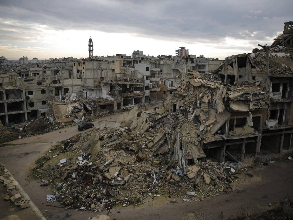 Homs distrutta. Credits to: AP.