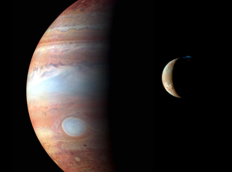Montage of images of Jupiter and its volcanic moon Io, taken by the New Horizons spacecraft's flyby in early 2007. Bas Lansdorp said humans may one day inhabit one of Jupiter's 69 moons