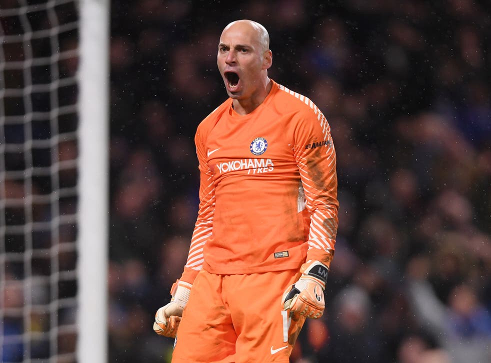 Willy Caballero survived Norwich's first penalty as Chelsea won the shootout