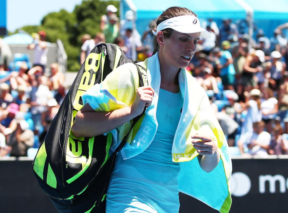 Konta blamed match fitness for the loss