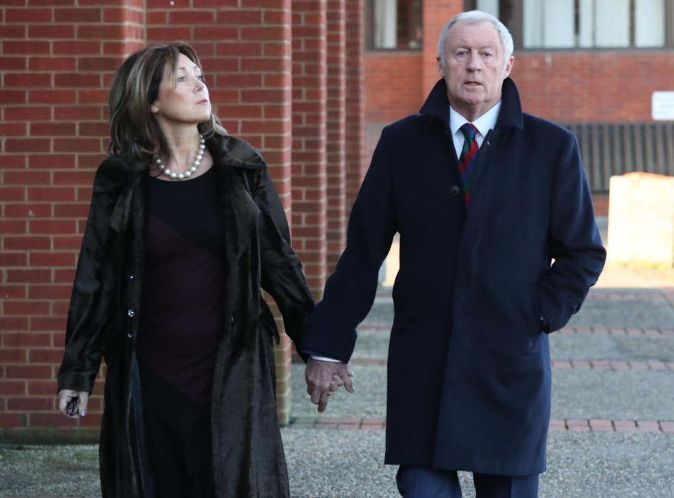 Chris Tarrant and girlfriend Jane Bird arrive at Reading Magistrates' Court