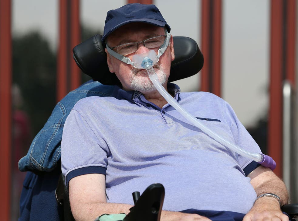 Noel Conway has won the right to continue his legal fight over his wish for a 'peaceful and dignified' death