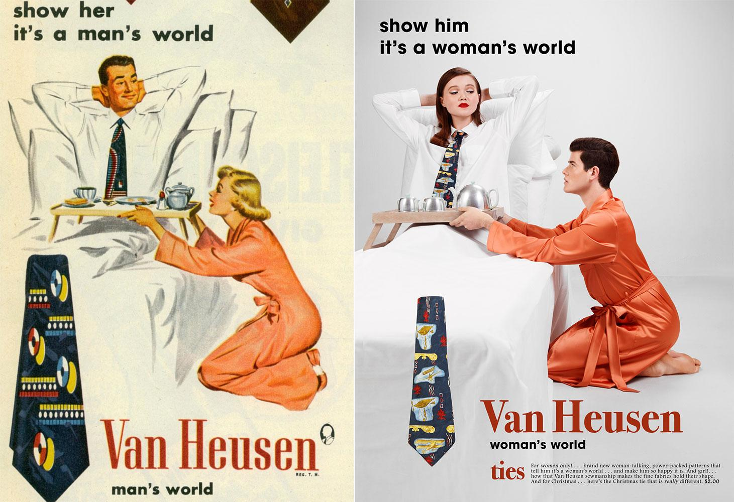 A photographer flipped gender roles in vintage ad campaigns and the