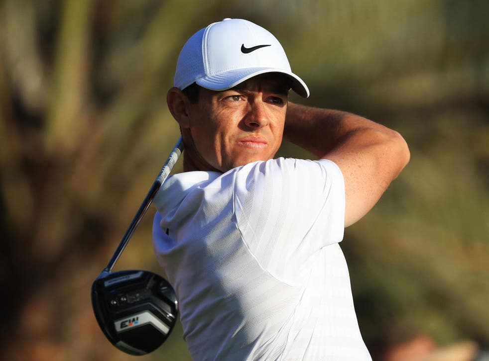 Rory McIlroy was happy to get back into competitive action in Abu Dhabi