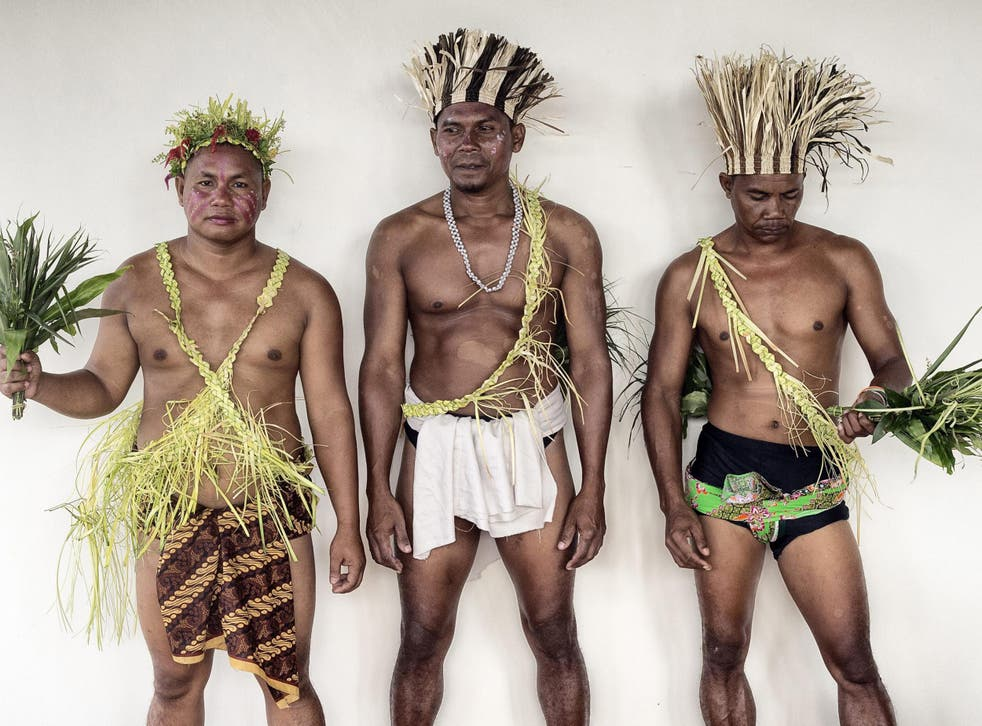 Members of the hunter-gatherer Jahai people, such as the man pictured in the center, appear to be more in tune with their sense of smell