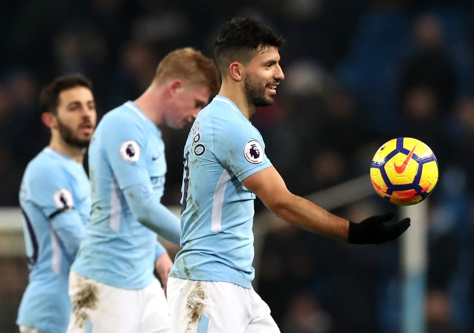 c4414e78024 Sergio Aguero hits a perfect hat-trick as Manchester City end ...