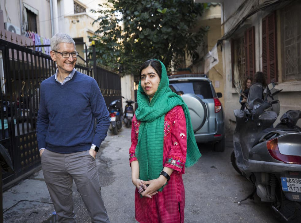 The pair met at Oxford, where Malala is studying; four months later, the partnership between Apple and the Malala Fund has been formalised