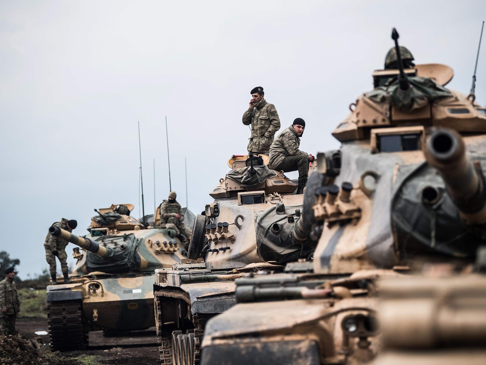 Turkey has transferred 20 tanks to the Syrian border