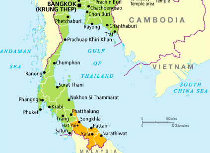 Pattani Thailand Map.Thailand Foreign Office Warns Tourists Of High Terror Threat Amid