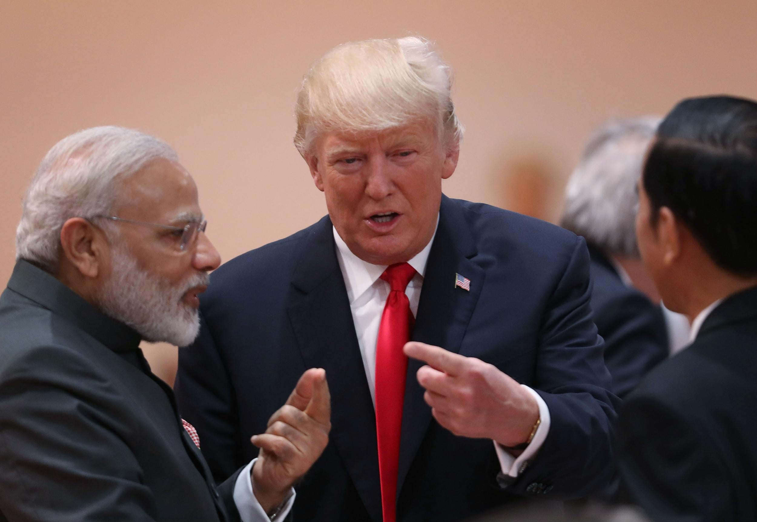 Donald Trump 'imitates Indian Prime Minister Narendra Modi's ...