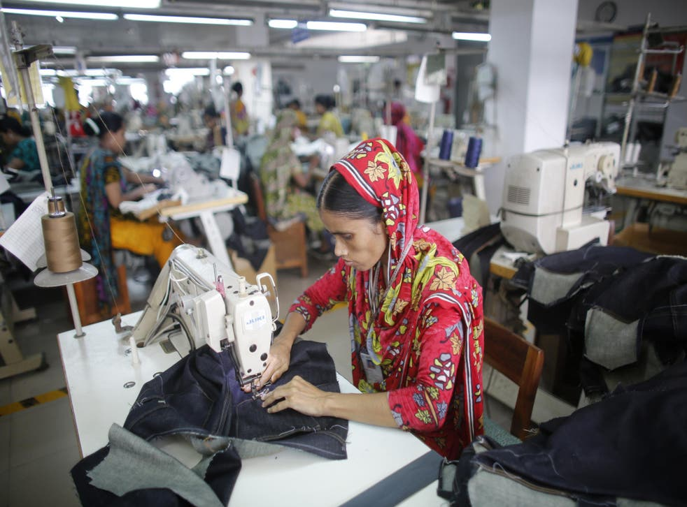 Global fashion brands manufacture clothes in Bangladesh because of the cheap labour costs
