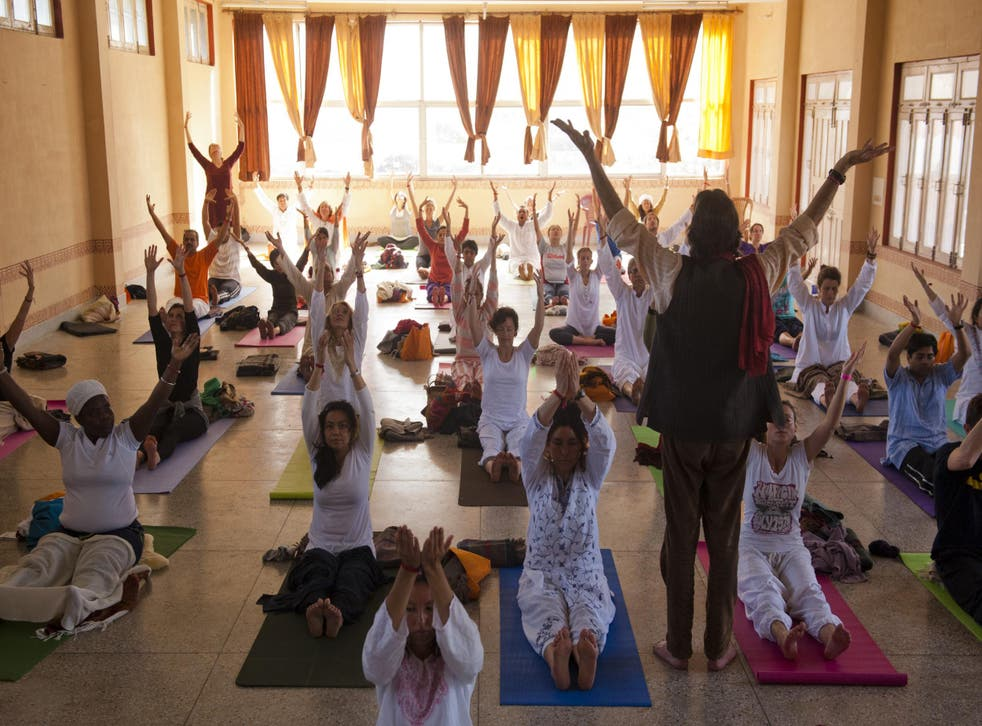 Prof Gandhi said yoga is intimately tied to colonialism and was originally used as a tool to show the British that Indians 'were not backwards or primitive'