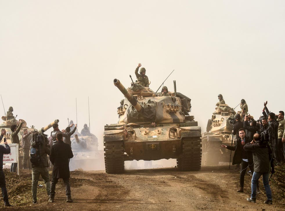 Turkish forces have reportedly moved into the Kurdish enclave of Afrin